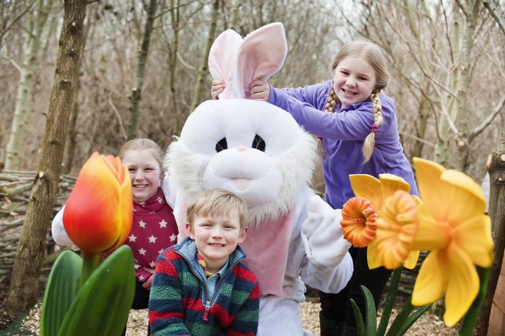 Easter Bunny with Becky Luffman, Morgan and Barney Richardson